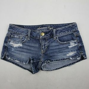 American Eagle Women's Mini Shorts Size 0 Ripped